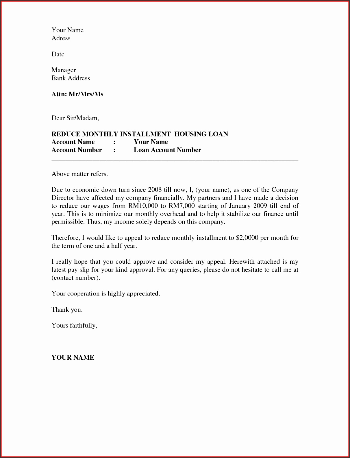 business appeal letter a letter of appeal should be written in a professional business letter