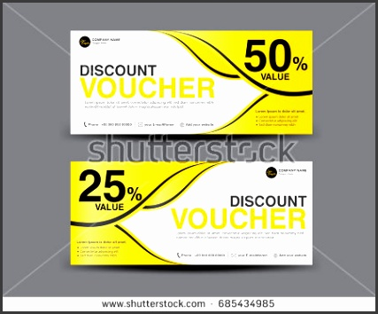 Yellow Gift Voucher template layout business flyer design Abstract background coupon ticket
