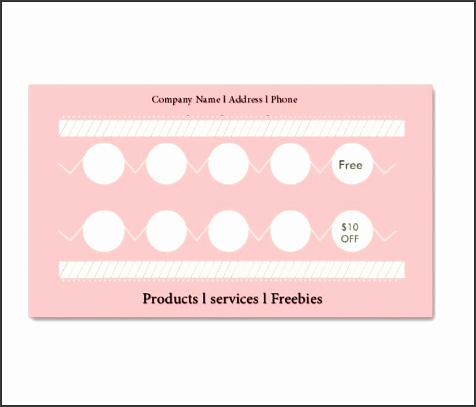 Punch Card Template 03