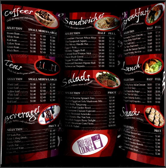 Coffee Cafe Menu Template – 20 Free PSD EPS Documents Download