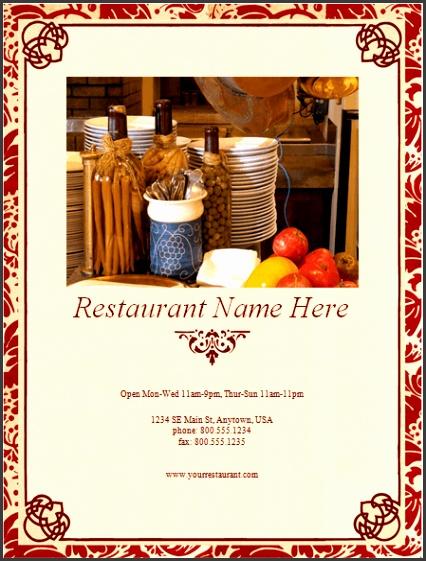 italian restaurant menu template Download Now