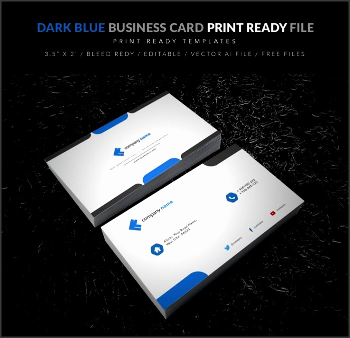 dark blue business card vector downalod