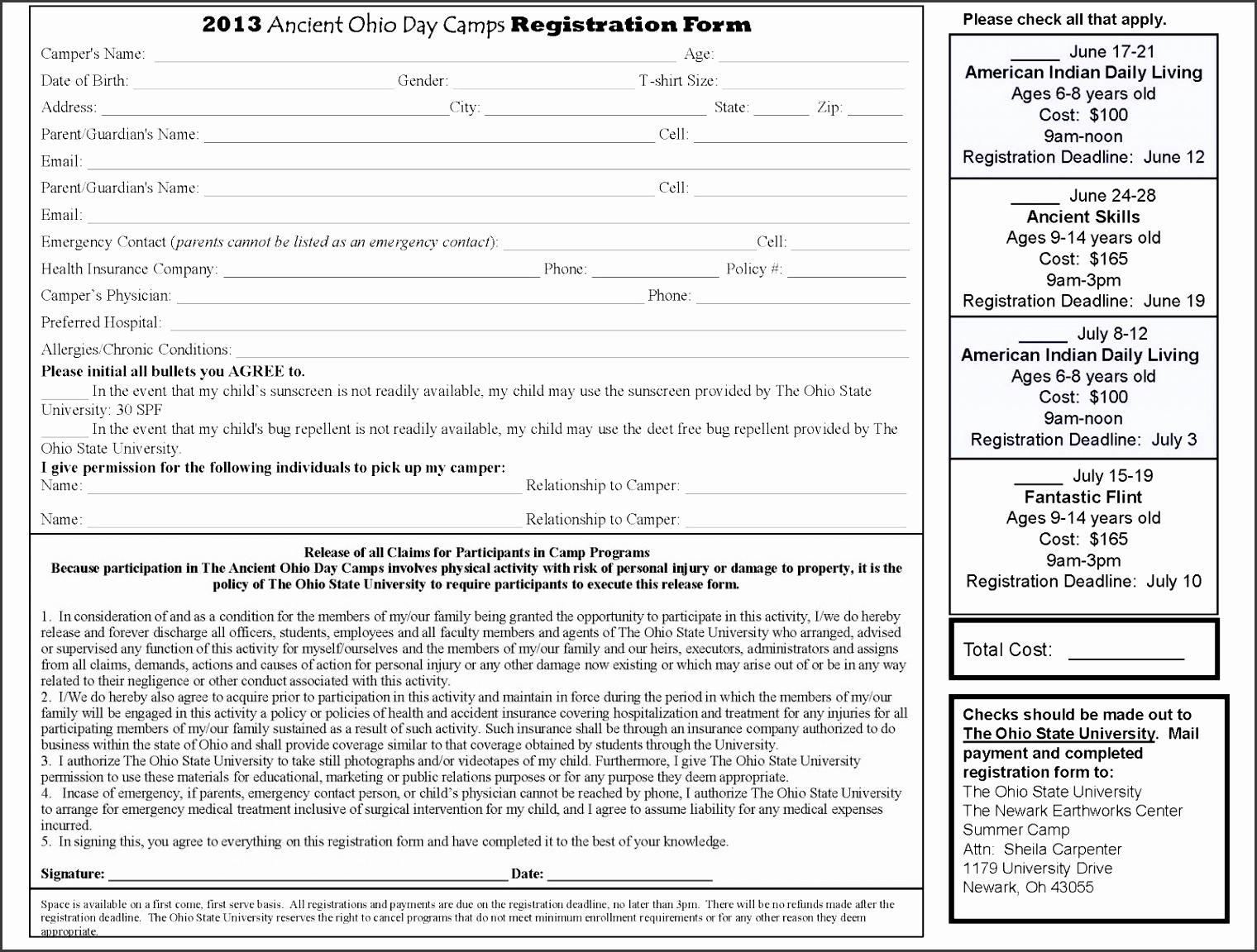 Youth conference registration form template image collections youth conference registration form template gallery templates newark earthworks