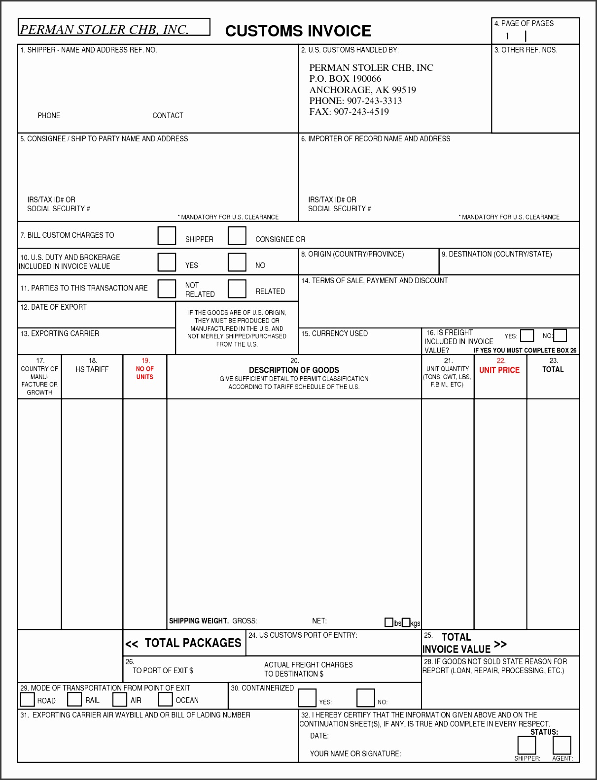 8 best images of custom invoice forms canada customs invoice Invoice templates