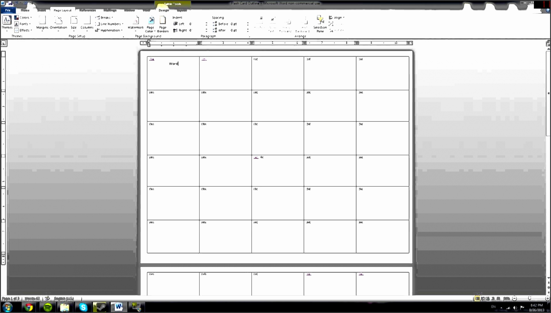 Tutorial How to make Microsoft Word note cards quickly 2010 w template