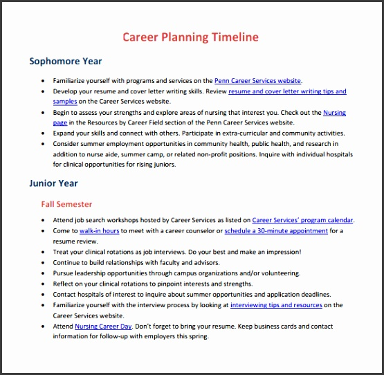 sample career timeline template 15 free documents in pdf psd career plan example