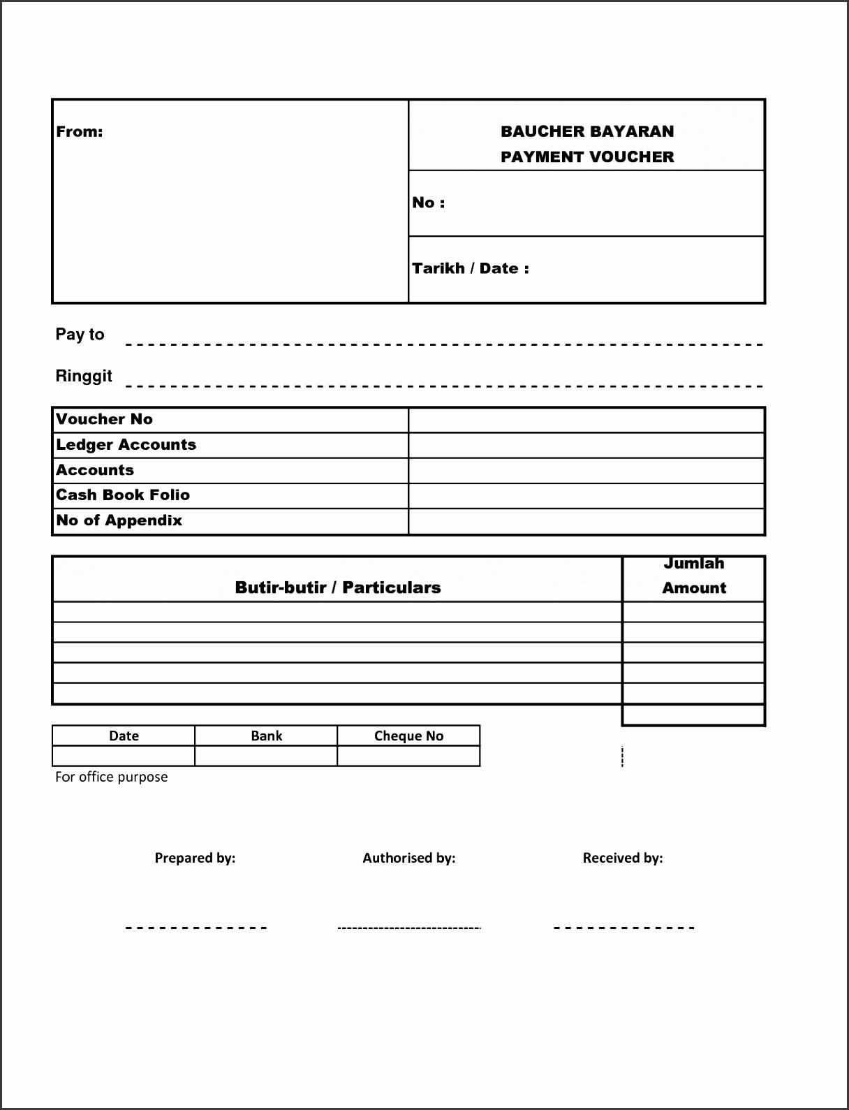 5 Cash Payment Voucher Template - SampleTemplatess - SampleTemplatess