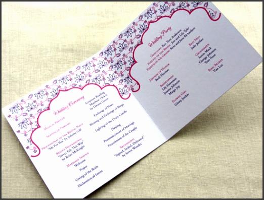 Imbue You Indian Lotus Wedding Program inside