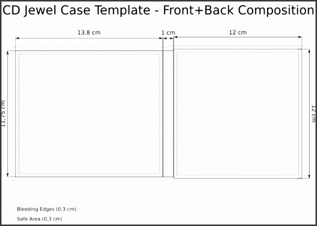 10 Cd Jewel Case Insert Template Psd