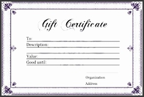 Gift Certificate Templates Free Printable Gift Certificates For intended for Free Printable Gift Certificate Template