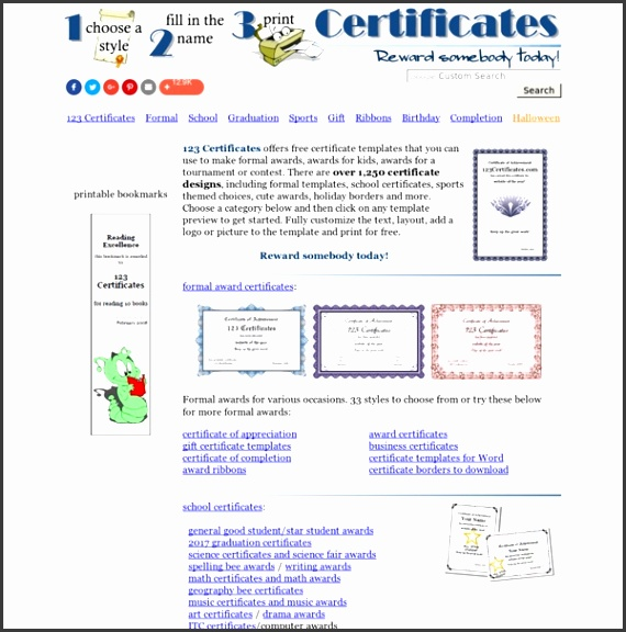 Certificate Templates free printable certificates and award templates