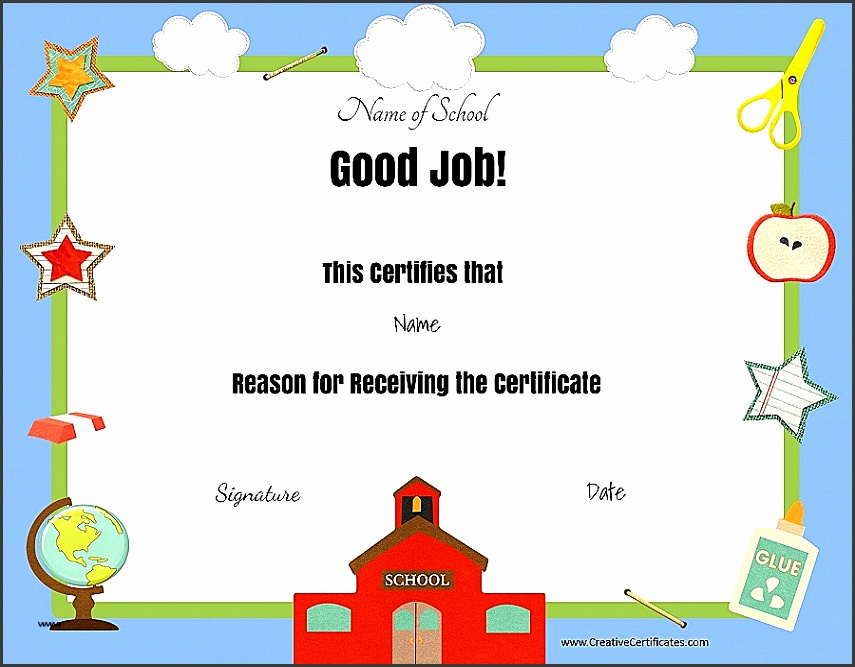 Certificate Template Free Educational Certificate Templates Inspirational Free School Certificates & Awards Beautiful Free Educational Certificate