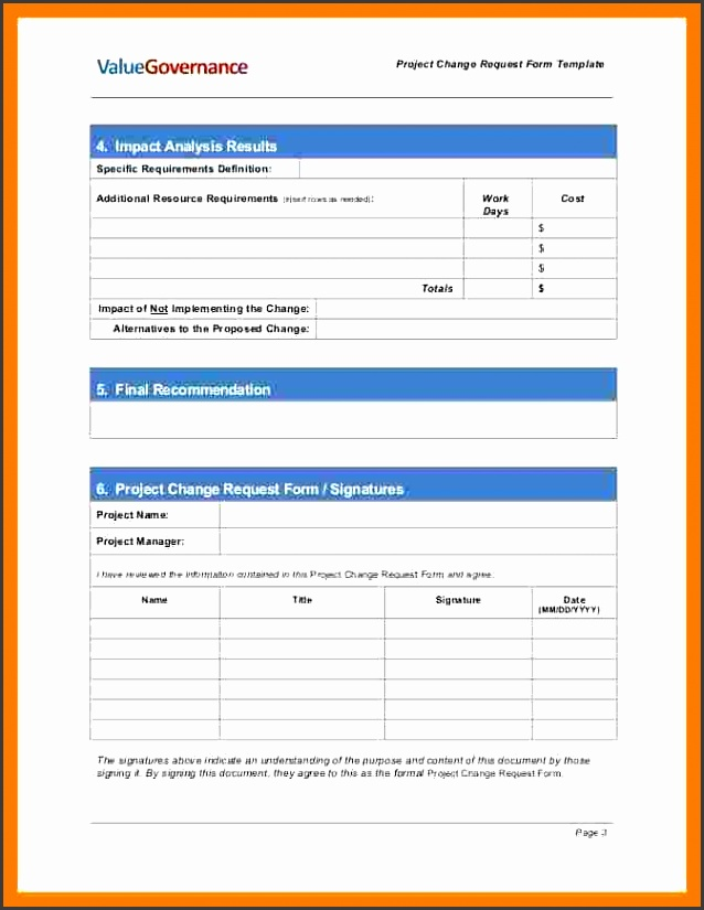 8 Change Request Form Template