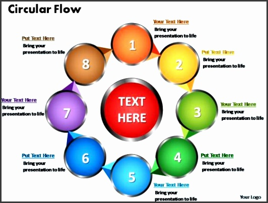 PowerPoint Slides Circular Flow Chart Ppt Templates