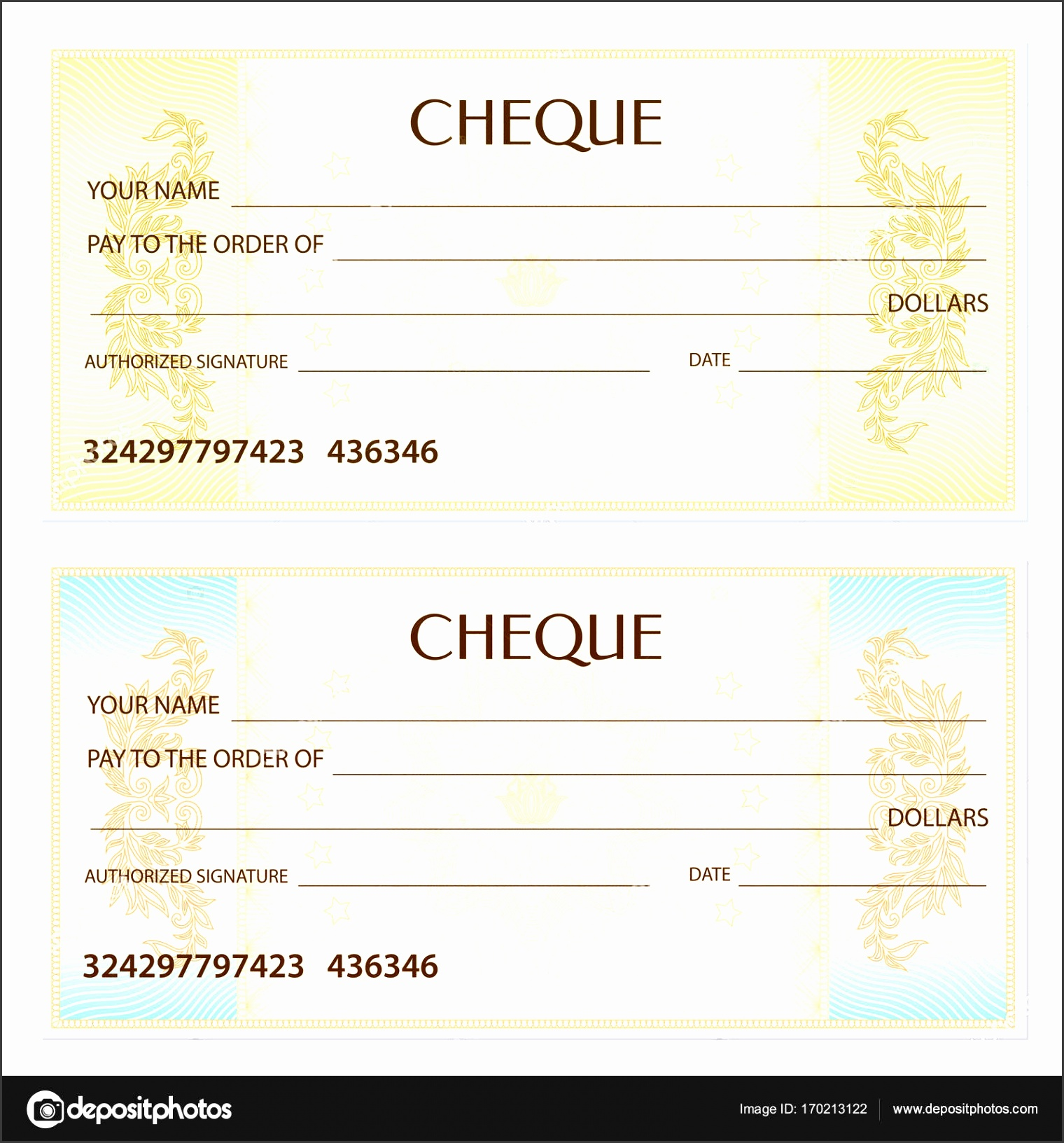 Check cheque Chequebook Template Guilloche Pattern With Depositphotos Stock Illustration Check Cheque Chequebook