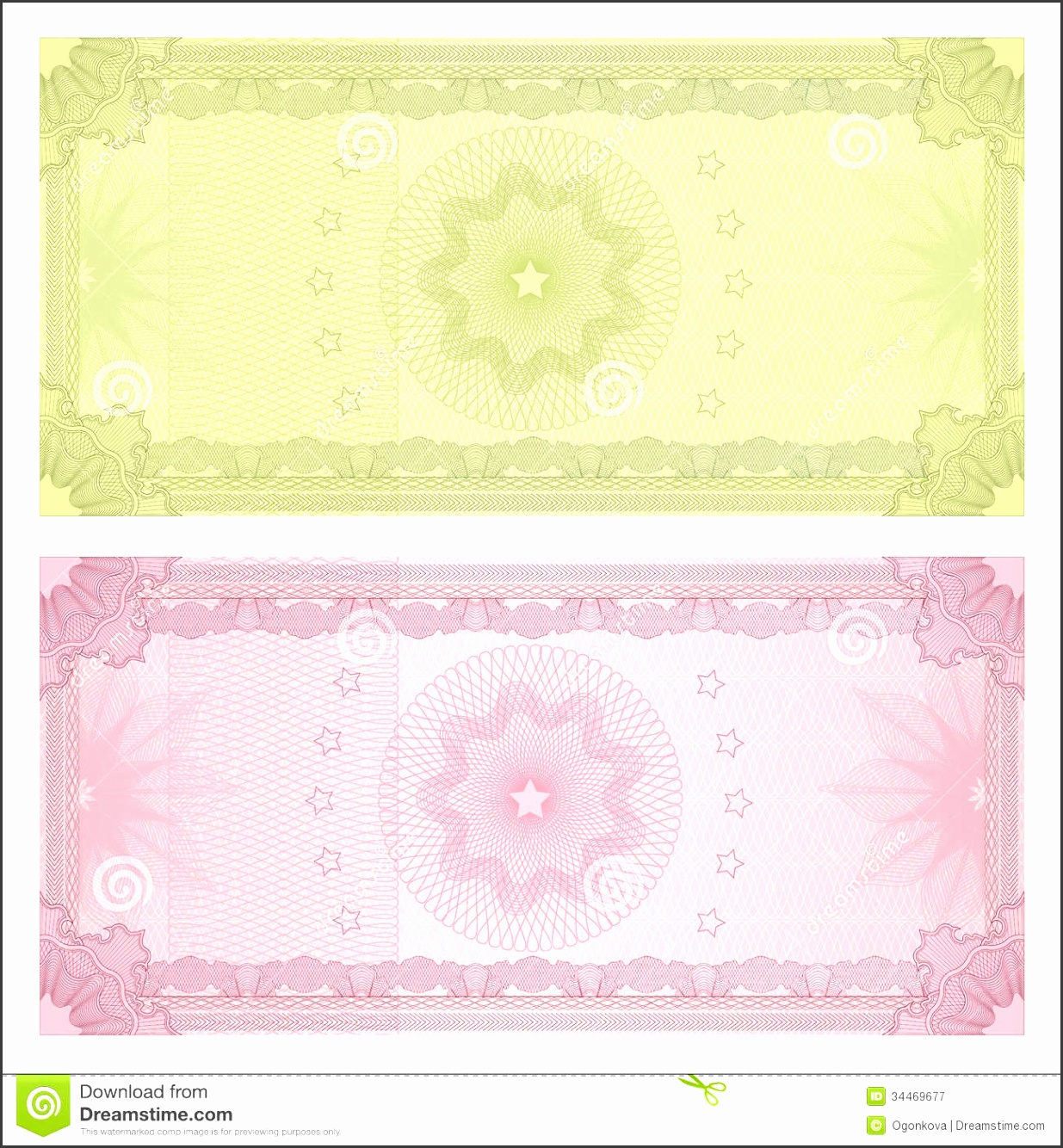 Gift certificate Voucher template Guilloche