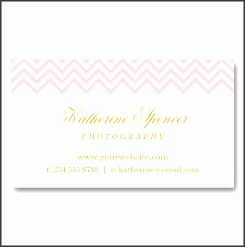 Light Pink and Gold Modern Chevron and Polka Dots Business Card Template from