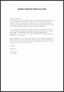 Professional personal character reference letter template word Quotes Wishes Greetings Coloring Pages Calendar 2017