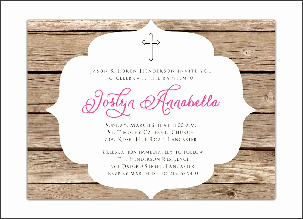 simple baptism invitation with fantastic layout 15