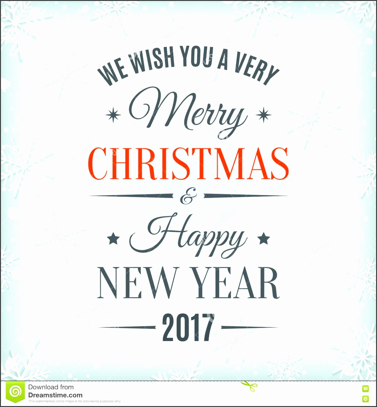 Merry Christmas And Happy New Year 2017 Stock Vector Image within Christmas Greeting Card
