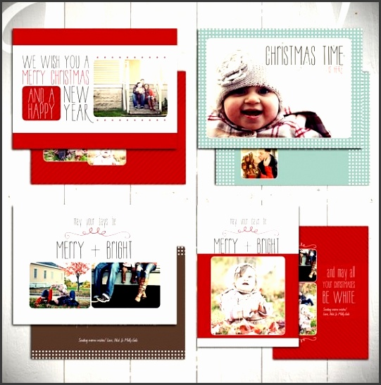 Christmas Card Templates White Christmas Set Four 5X7 throughout Free Holiday Card Templates For