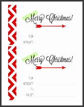 Download Customizable Christmas Gift Certificate 4—6 Size