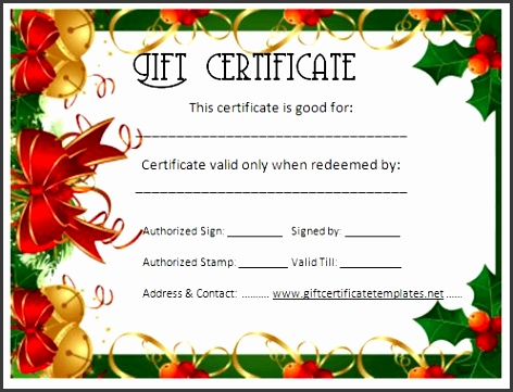 Free Christmas Certificate Templates Formal Gift Certificate Template Beautiful Printable Gift Printable