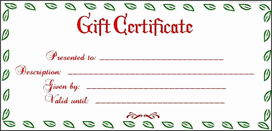 Uses For Gift Certificate Templates