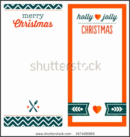 Cute set of hipster Christmas background designs for menu invitation or shopping list templates