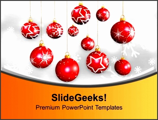 christmas hanging balls picture ornament powerpoint templates ppt backgrounds for slides 0113 title