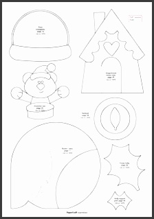 Christmas Paper Craft Templates Christmas Template Christmas Paper Craft Templates