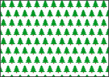to see printable version of Christmas Trees Wrapping Paper Template Paper craft