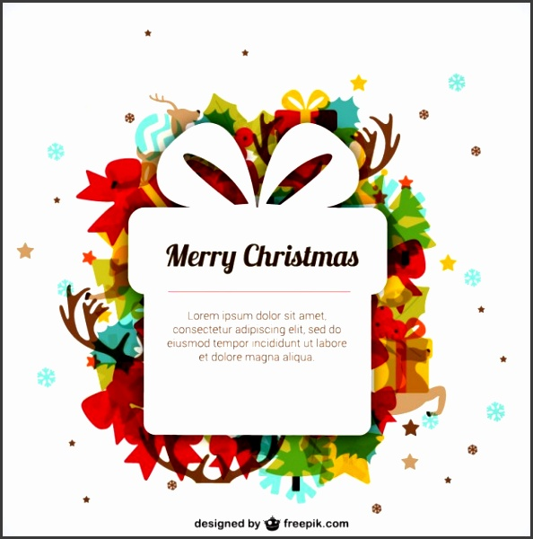 Christmas template with present box Free Vector