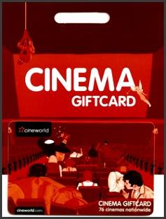 Cineworld Gift Cards