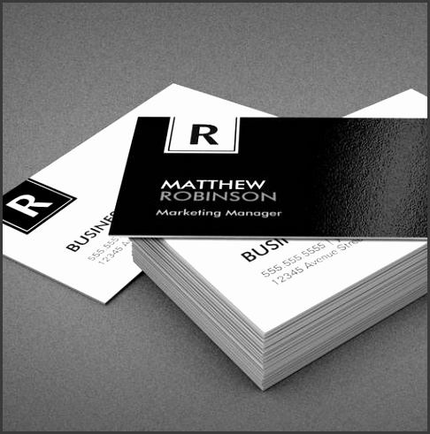 Customizable Classy Monogram Modern Black and White Business Card Template