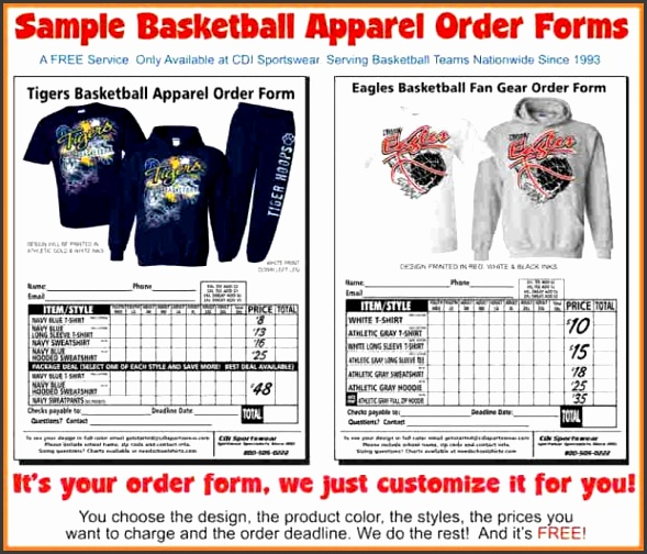 Apparel order form template snapshot Apparel Order Form Template Functional Sample 1 with medium image