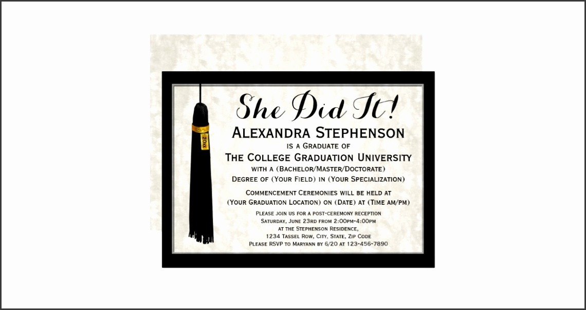 College Graduation Announcements Wording Samples High School Graduation Party Invitation Wording Samples Tags