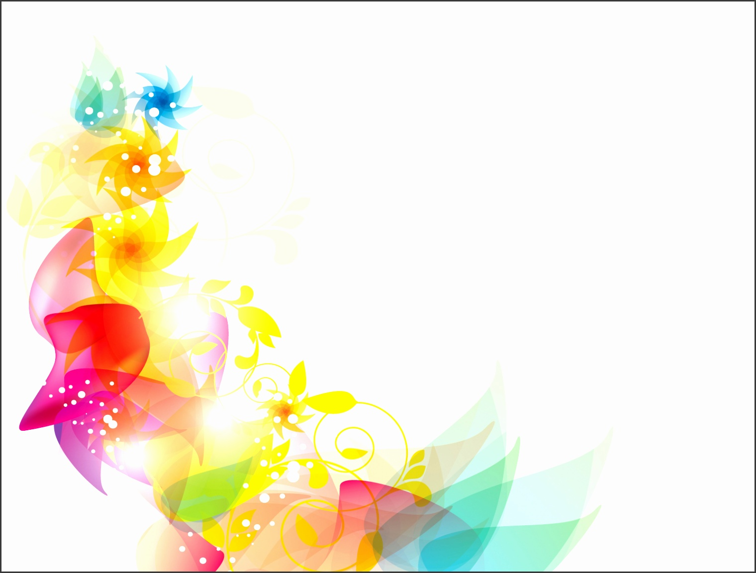 Colorful Floral PPT Backgrounds