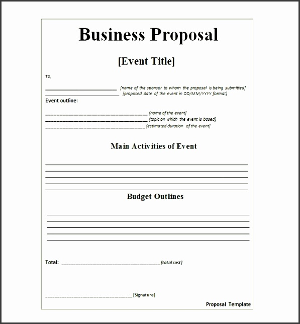 pany proposal templates