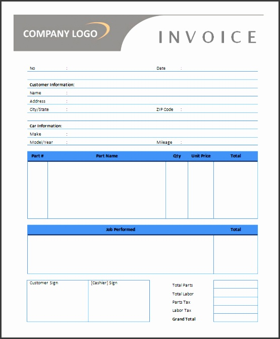 auto repair invoice template microsoft office 50 generic invoice template to ease the invoice ideas