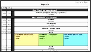 Three Day Conference Agenda