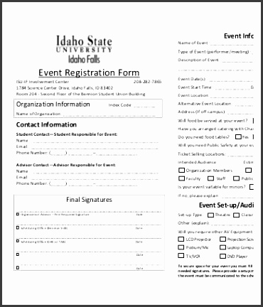 10 Printable Registration Form Templates Free Sample Exmaple throughout Registration Form Template