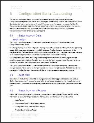 Configuration Management Plan Template Technical Writing Tips