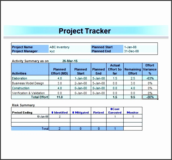 Microsoft Excel Project Management Template Project Management Excel Templates Free Download