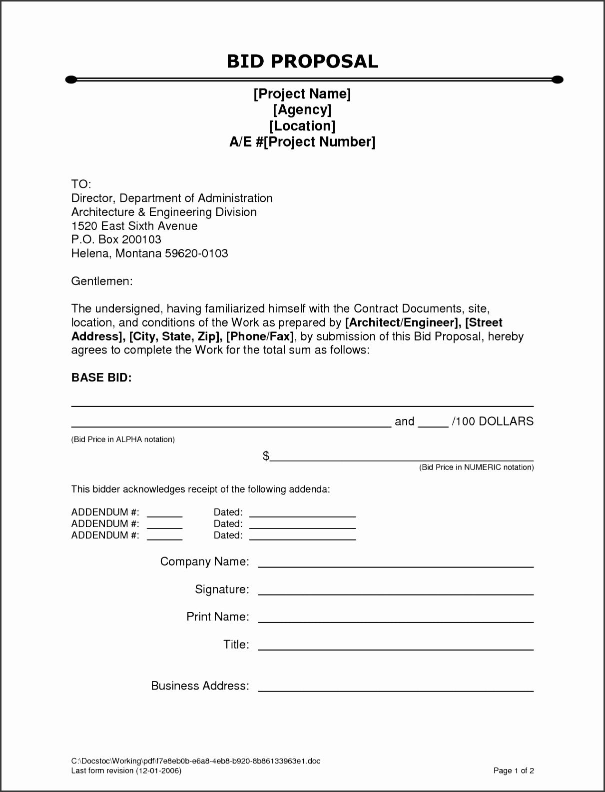 sample construction bid sheet template and free construction proposal template pdf