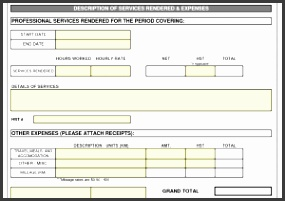 Sample Invoice for Professional Services and Consultant Invoice Template Doc Invoice Example
