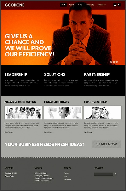 Consulting Drupal Template Custom BannersContact FormBusiness