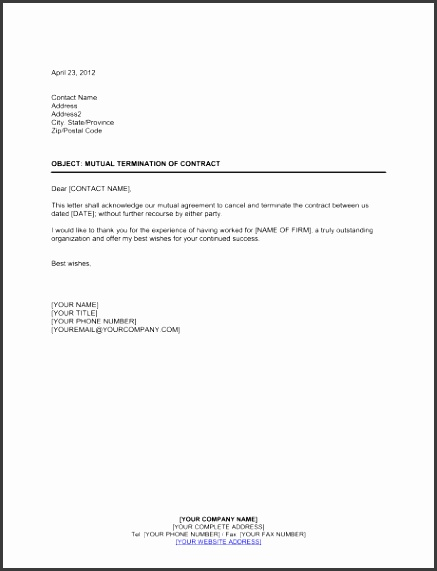 Mutual Termination of Contract 1 Fill in the Blanks 2 Customize Template 3 Save As Print Sign Done