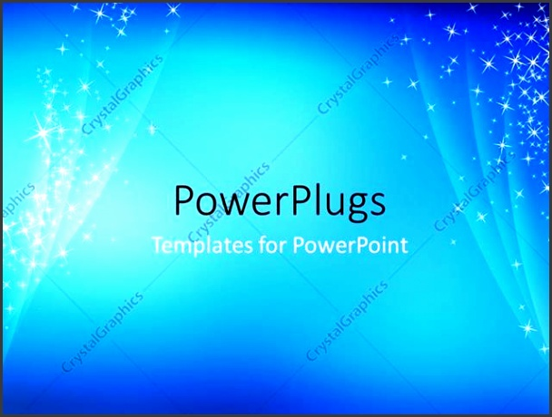 PowerPoint Template Displaying Abstract Simple Cool Blue Sparkling Background