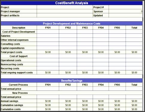 Cost Benefit Analysis Template Excelst Benefit Analysisbig